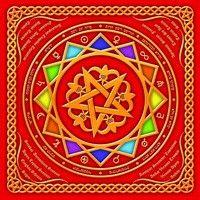 "Салфетка магическая ""Белая пентаграмма"", 15х15 см,4 шт."