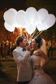 Светящиеся БЕЛЫЕ надувные шары - внутри светодиод мигает Белым цветом